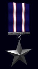 Iron Star with Silver Ribbon
